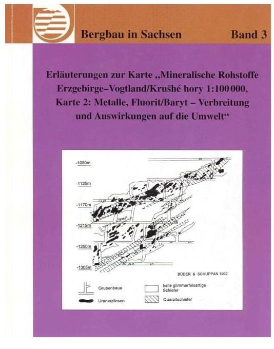 Bergbau Erzgebirge Karte.Erlauterungen Zur Karte Mineralische Rohstoffe Erzgebirge